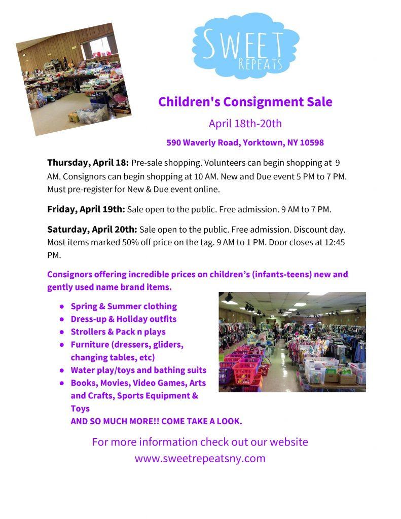 Sweet Repeats Children's Consignment Sale April 18-20 | Elks